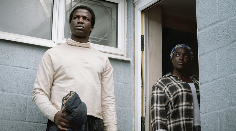 "Bol (Sope Dirisu) and Rial (Wunmi Mosaku) in Netflix's ""His House"" (2020)"