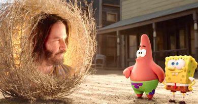 """Keanu Reeves appeared as the tumbleweed Sage in """"The SpongeBob Movie: Sponge on the Run"""" (2020)"""