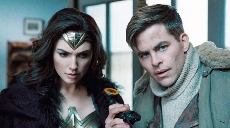 "Diana Prince (Gal Gadot) and Steve Trevor (Chris Pine) in ""Wonder Woman"""