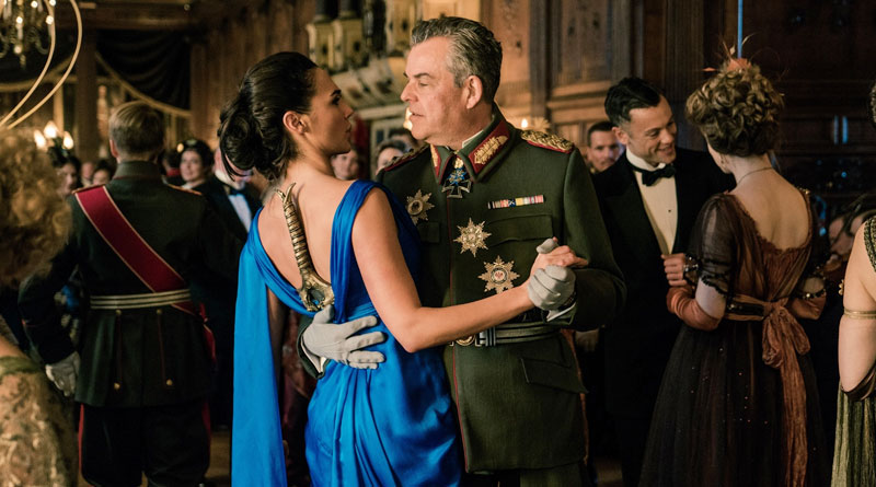 """Diana Prince (Gal Gadot) and General Erich Ludendorff (Danny Huston) in """"Wonder Woman"""""""