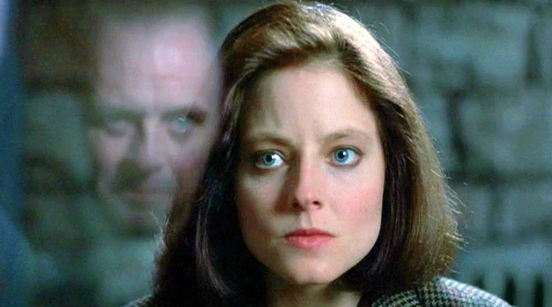 "Jodie Foster and Anthony Hopkins in ""The Silence of the Lambs"" (1991)"