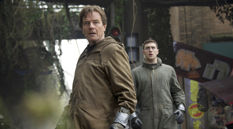 "Bryan Cranston and Aaron Taylor-Johnson in ""Godzilla"" (2014)"