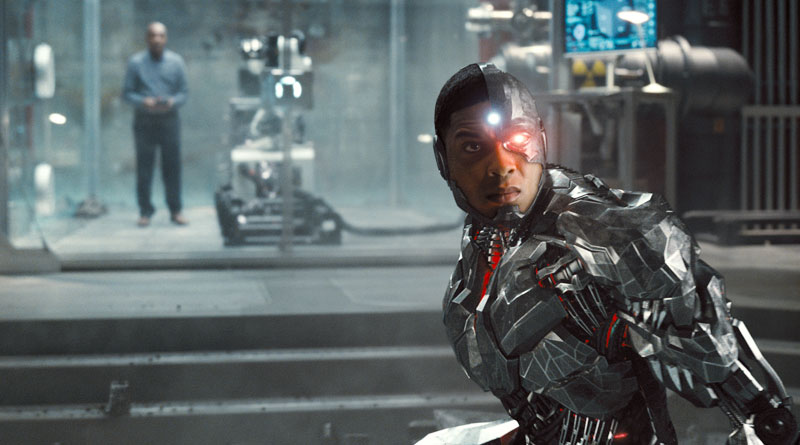 """Cyborg a.k.a. Victor Stone (Ray Fisher) in Zack Snyder's """"Justice League"""" (2021)"""