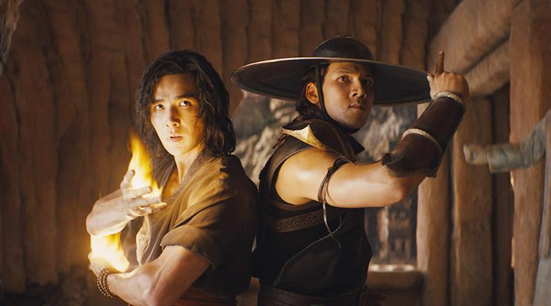 """Liu Kang (Ludi Lin) and Kung Lao (Max Huang) in """"Mortal Kombat"""" (2021)"""
