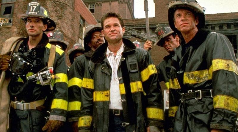 "(L-R) William Baldwin, Kurt Russell and Scott Glenn in ""Backdraft"" (1991)"