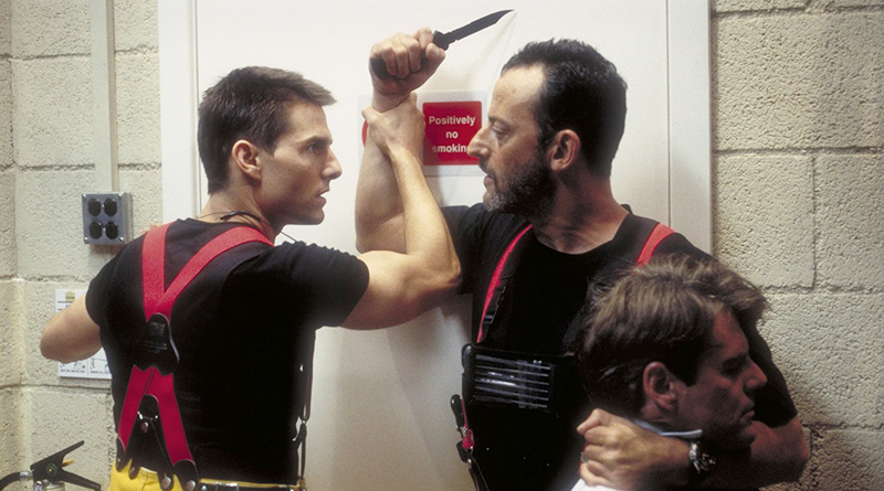 """Tom Cruise and Jean Reno in """"Mission: Impossible"""" (1996)"""