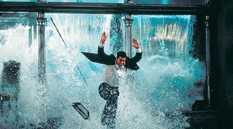 """The aquarium-themed restaurant scene in """"Mission: Impossible"""" (1996)"""