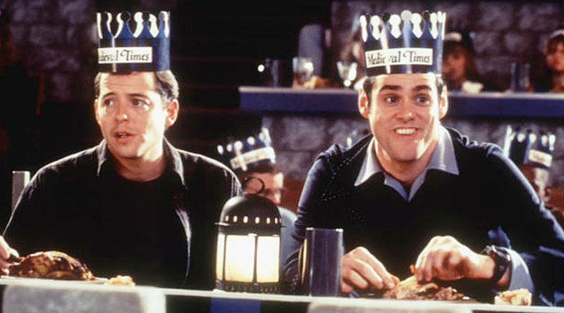 """Jim Carrey and Matthew Broderick in """"The Cable Guy"""" (1996)"""