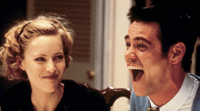 """Jim Carrey and Leslie Mann in """"The Cable Guy"""" (1996)"""