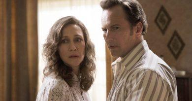 "Vera Farmiga and Patrick Wilson in ""The Conjuring: The Devil Made Me Do It"" (2021)"