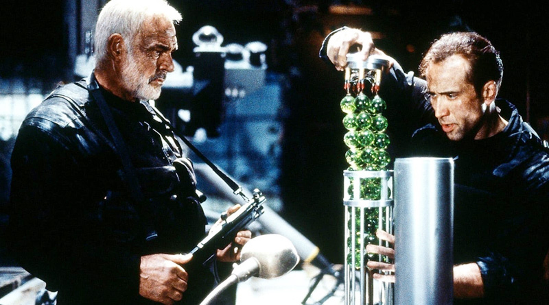 """Sean Connery and Nicolas Cage in """"The Rock"""" (1996)"""
