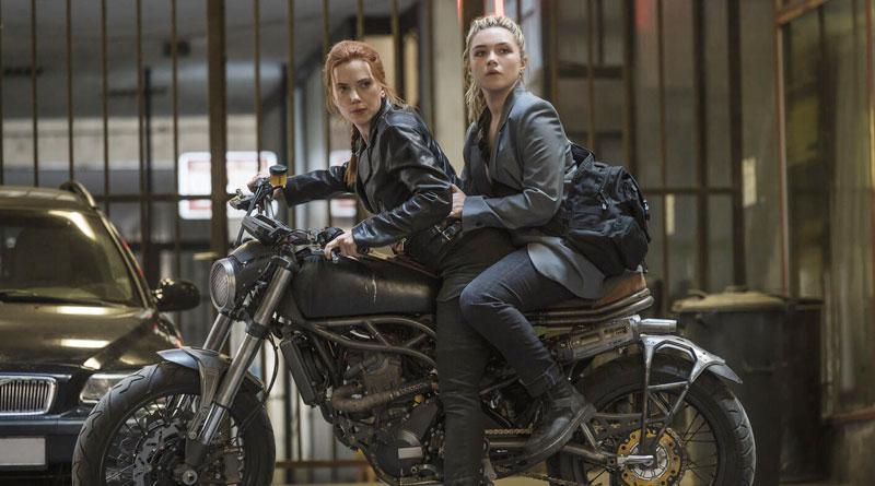 "Scarlett Johansson and Florence Pugh in ""Black Widow"" (2021)"