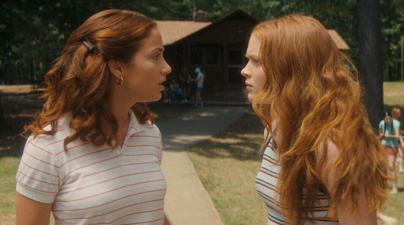 """Emily Rudd and Sadie Sink in Netflix's """"Fear Street Part Two: 1978"""" (2021)"""