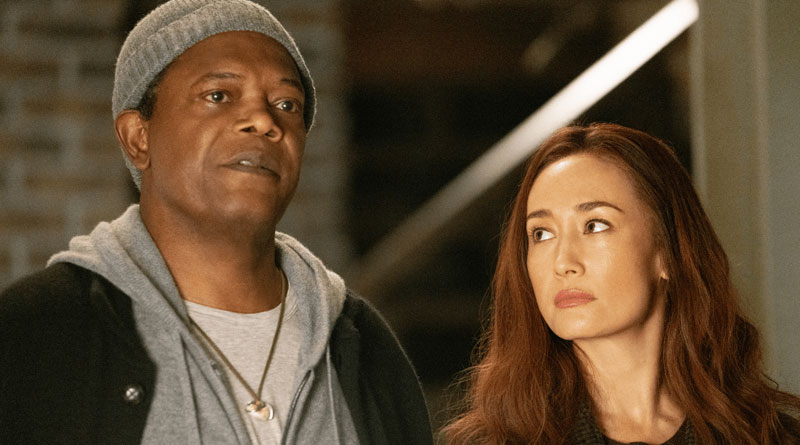 "Maggie Q and Samuel L. Jackson in ""The Protégé"" (2021)"