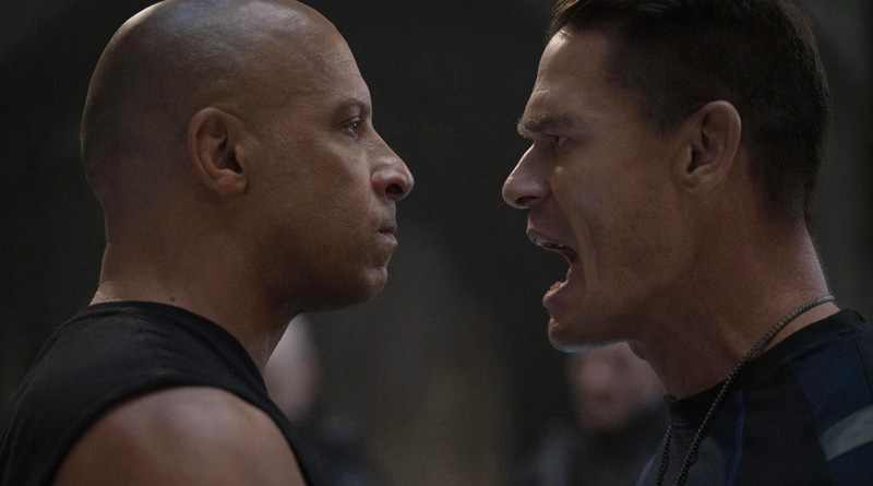 """The sibling rivalry between Dom (Vin Diesel) and Jakob (John Cena) in """"Fast & Furious 9"""" (2021)"""