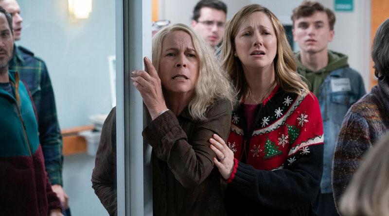 """Jamie Lee Curtis and Judy Greer in """"Halloween Kills"""" (2021)"""